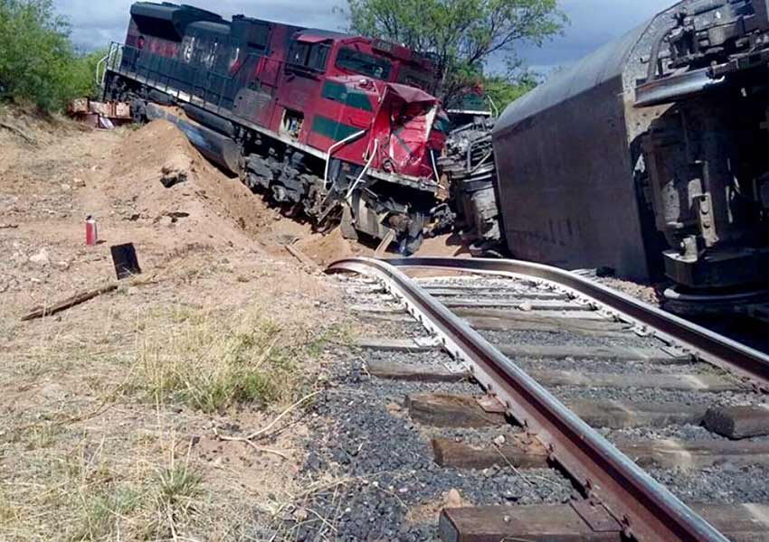 Profepa atiende descarrilamiento de tren en Sonora