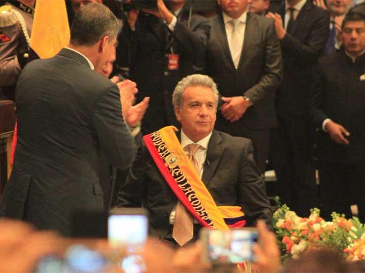 Lenín Moreno asume como presidente de Ecuador