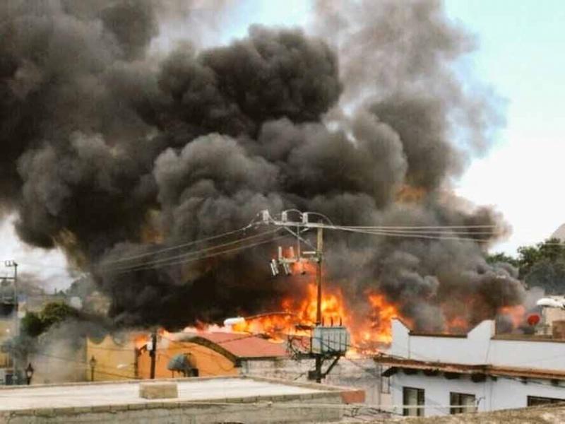 Se registra incendio en Xochimilco