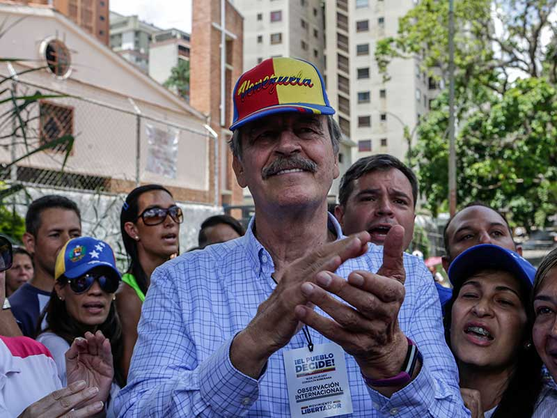 Venezuela declara a Vicente Fox persona 'non grata'