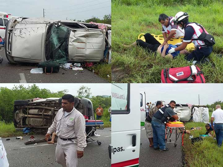 Mueren dos adultos y una niña en accidente carretero [FOTOS]