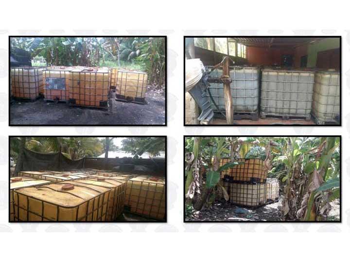 Aseguran en Tabasco 43 mil litros de hidrocarburo robado