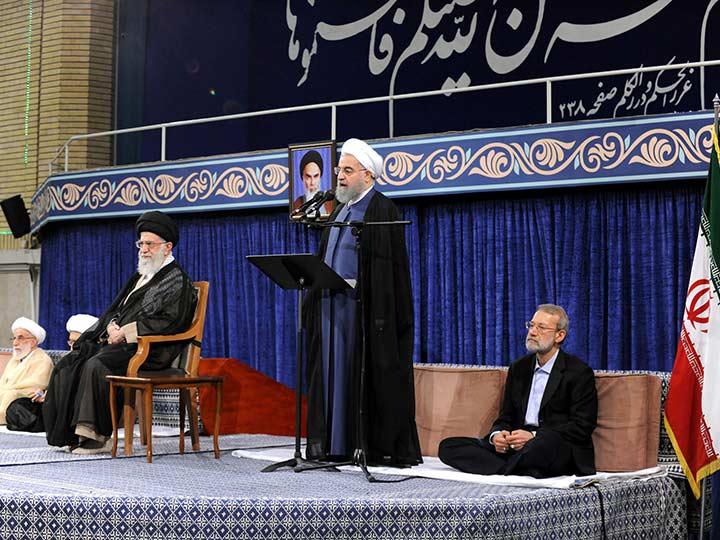 Arce representa al país en posesión de Rouhani