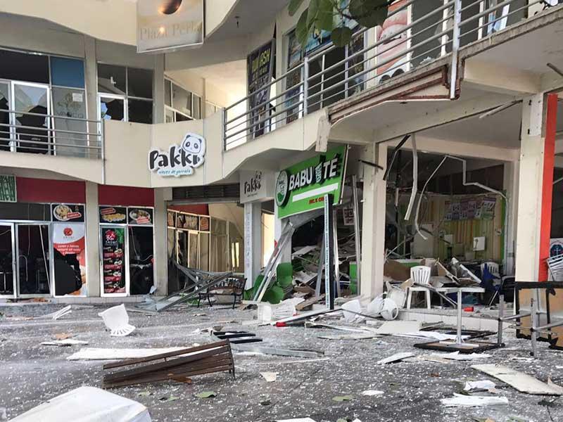 Se registra una explosión en un centro comercial de Colima