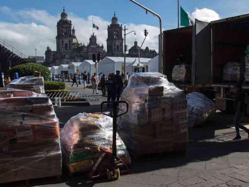 PRD Michoacán Instala Centro de Acopio Para Damnificados de Oaxaca y Chiapas