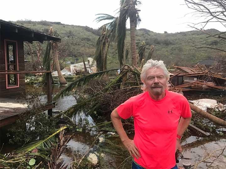Richard Branson muestra el paso destructivo de Irma por su isla