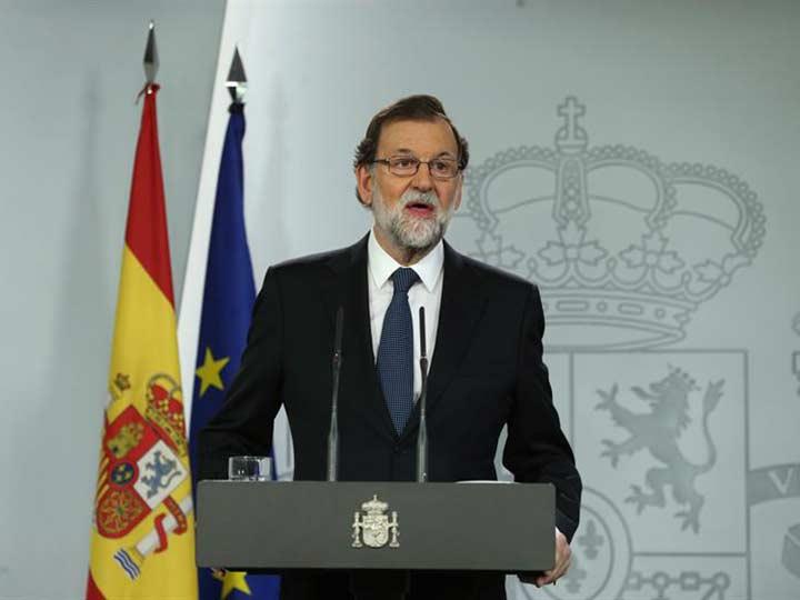 Rajoy defiende acciones de gobierno español ante referéndum en Cataluña
