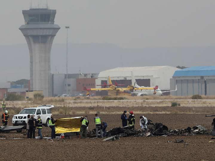 Se estrella avión militar en España