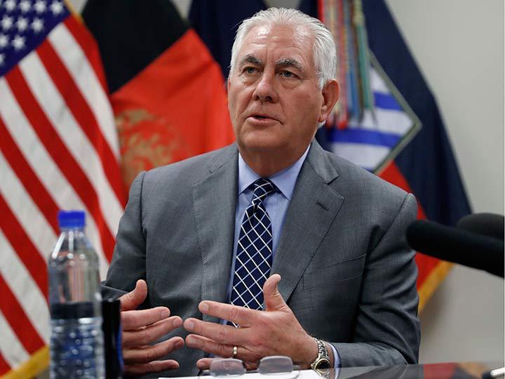 Presidente de Afganistán se reúne con secretario de Estado de EEUU