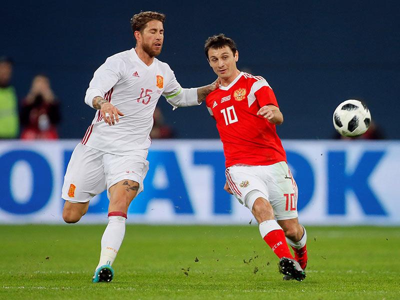 España y Rusia igualaron en un partidazo