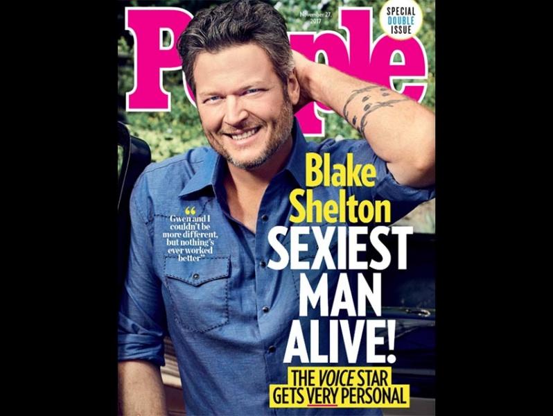 Blake Shelton, elegido el hombre más sexy de 2017