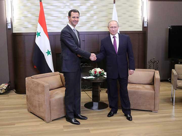 Putin y Al Assad analizan en Sochi proceso político sirio