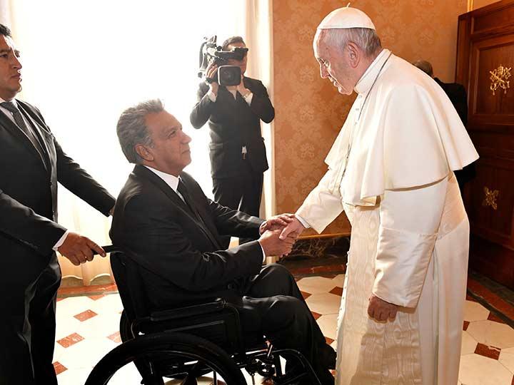 Papa Francisco se reunirá con los presidentes de Bolivia y Ecuador
