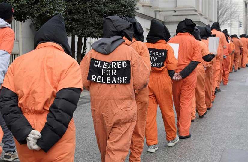 Reclaman cierre de Guantánamo ante la Casa Blanca