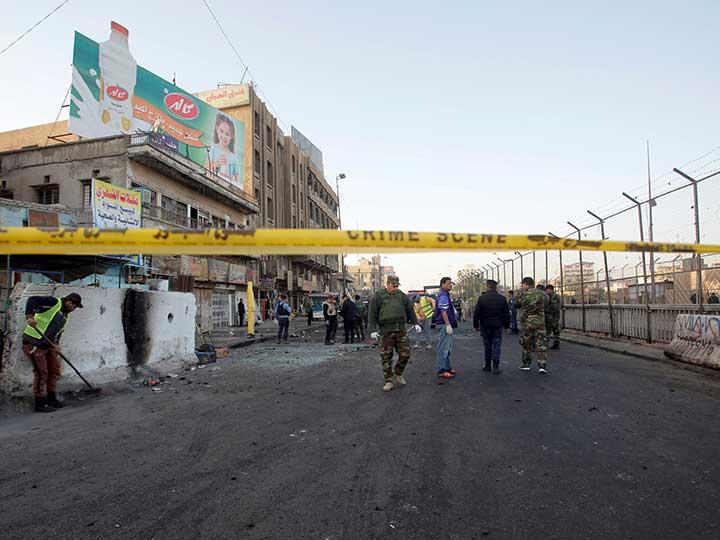 Mueren 26 personas tras doble atentado en Bagdad