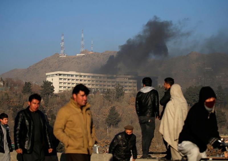 Ataque terrorista en el hotel Intercontinental de Afganistán