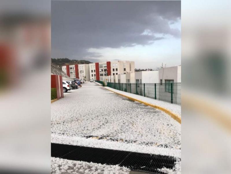 Cae granizo en Atizapán; alertan por lluvias en Valle de México