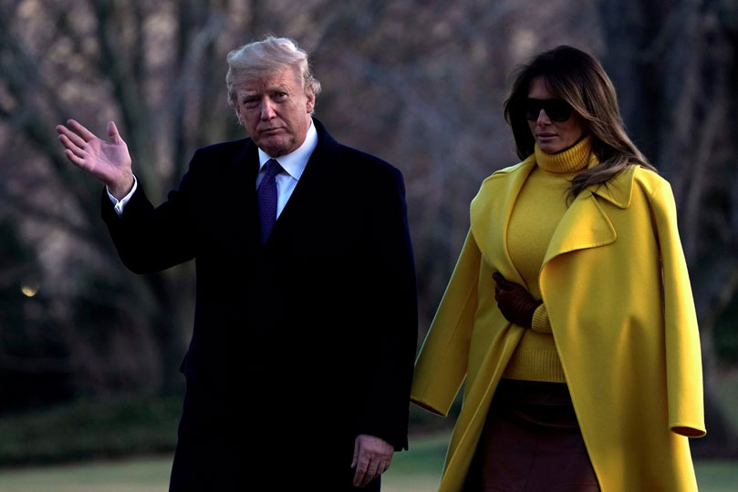 Los padres de Melania Trump ahora son residentes permanentes en Estados Unidos