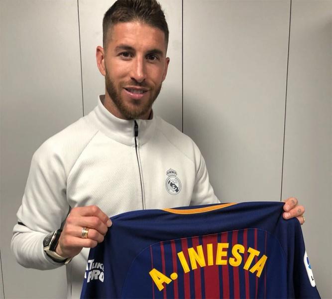 3975f5ae0b Sergio Ramos se queda con invaluable  recuerdito  de Iniesta