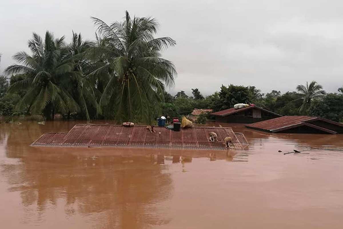 Muertos, heridos y refugiados luego de la ruptura de una represa