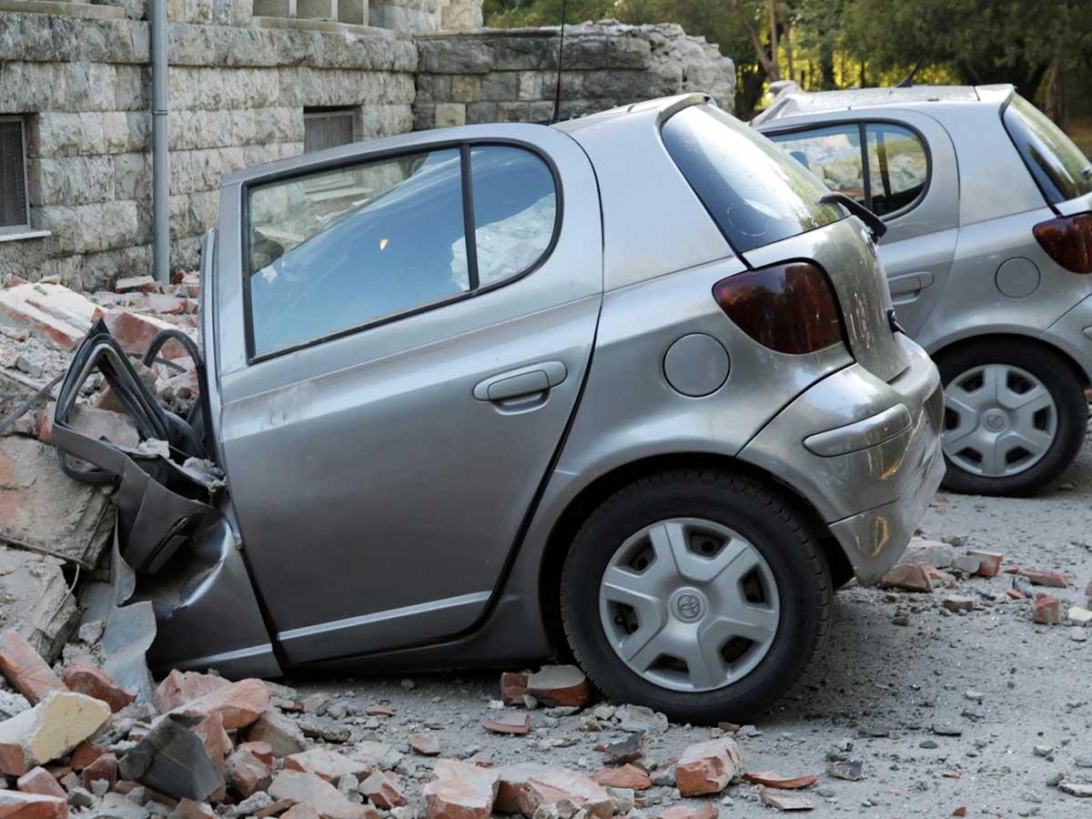 El 'terremoto doble' en Albania
