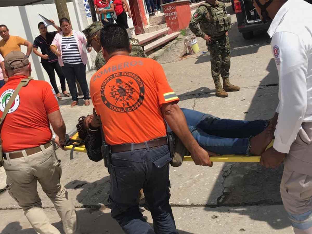 Naufraga embarcación con migrantes de Camerún en Chiapas uno muere