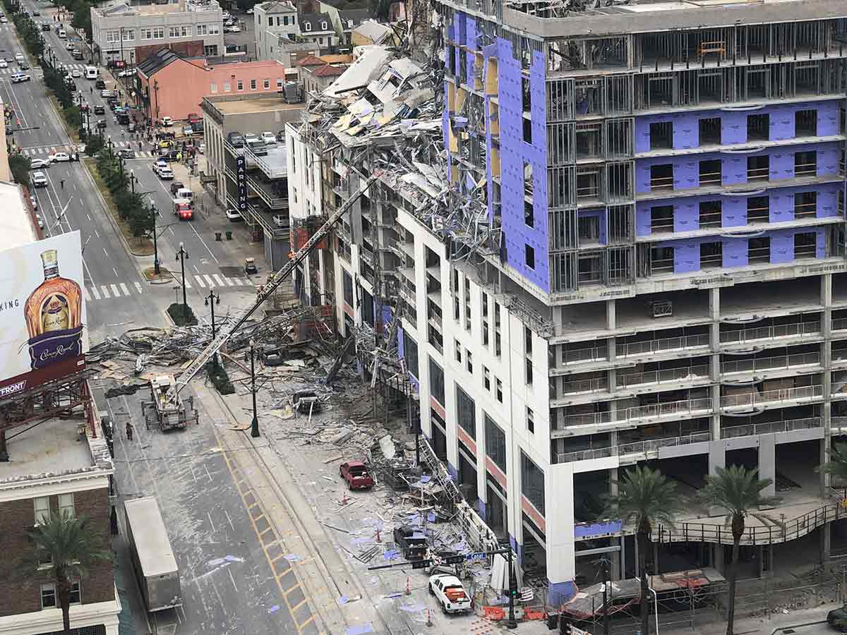 Muere una persona tras colapso de hotel en construcción