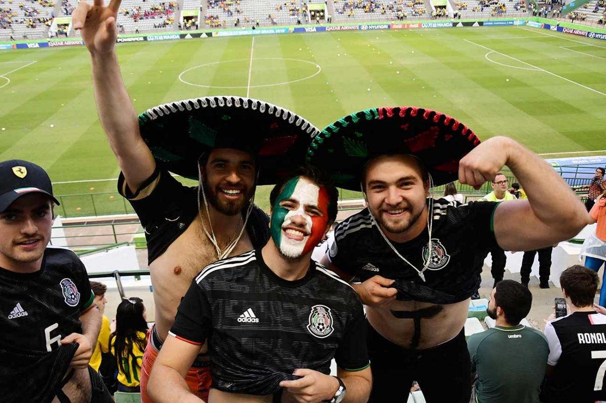 El color de la afición en la final del Mundial sub 17