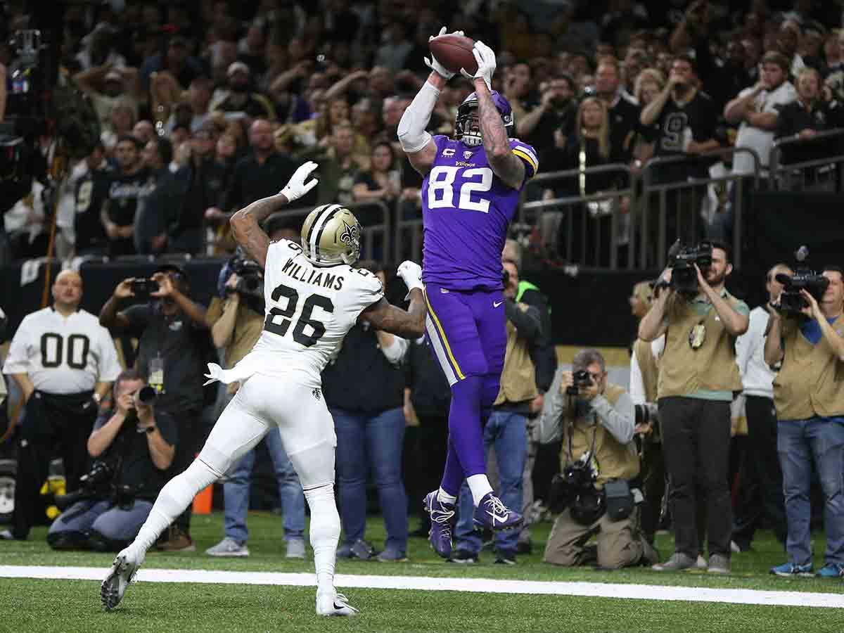 Los Vikings sorprenden a los Saints en tiempo extra