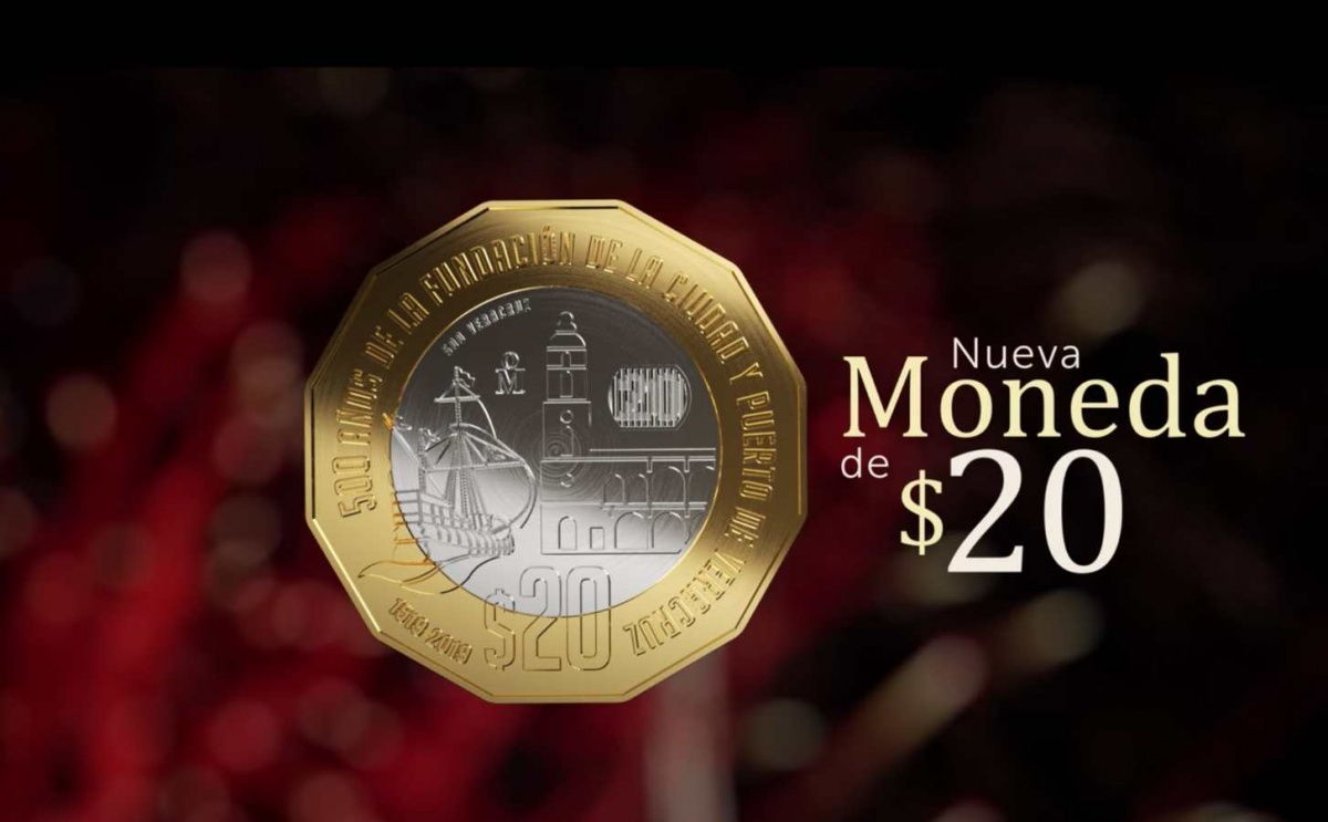 ¡Conoce la nueva moneda de 20 pesos que ya circula en México!
