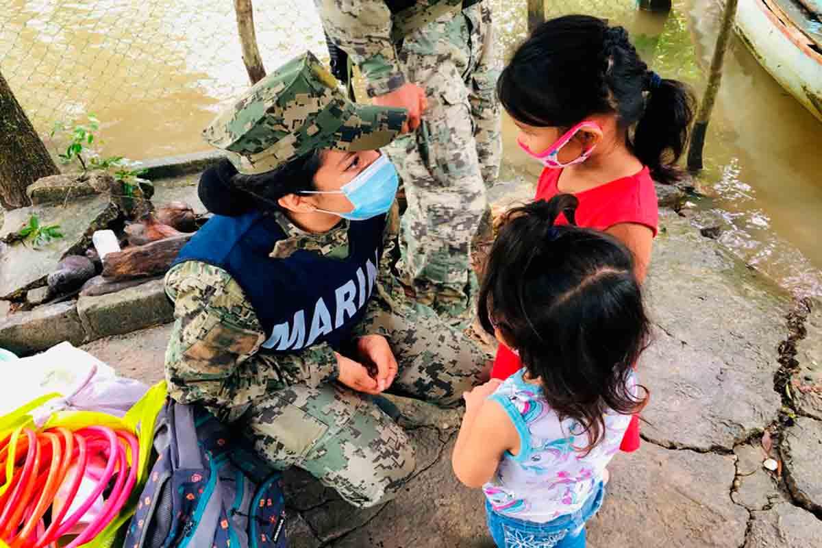Semar apoya a niños para evitar daños emocionales en Tabasco