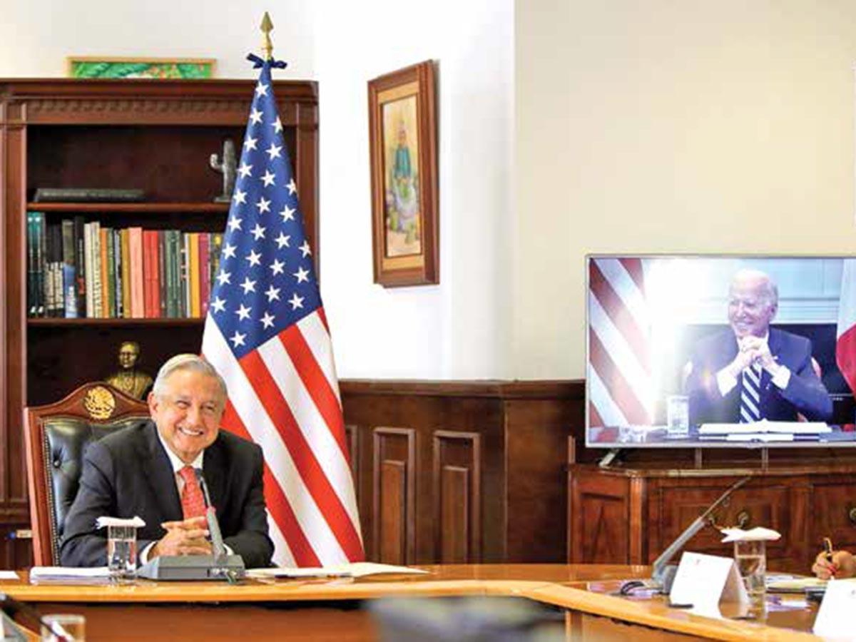 Destaca oferta de respeto a soberanía; primer encuentro virtual López  Obrador-Biden