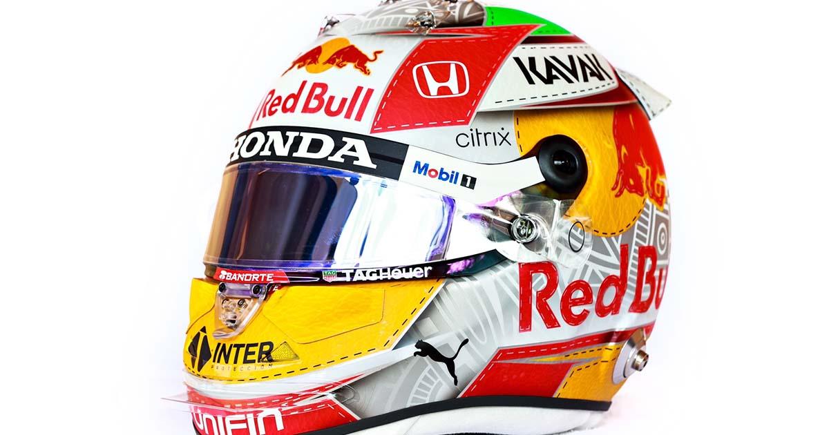 'Checo' Pérez con un casco especial para Austria