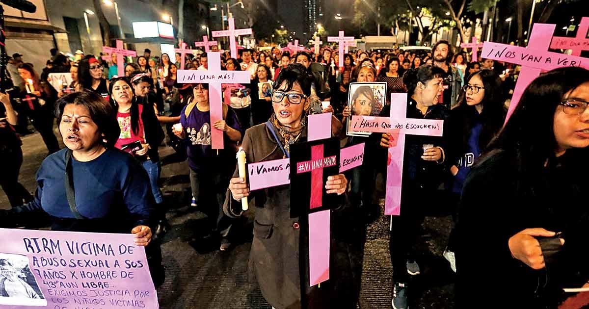 Sin confinamiento, más delitos contra mujeres