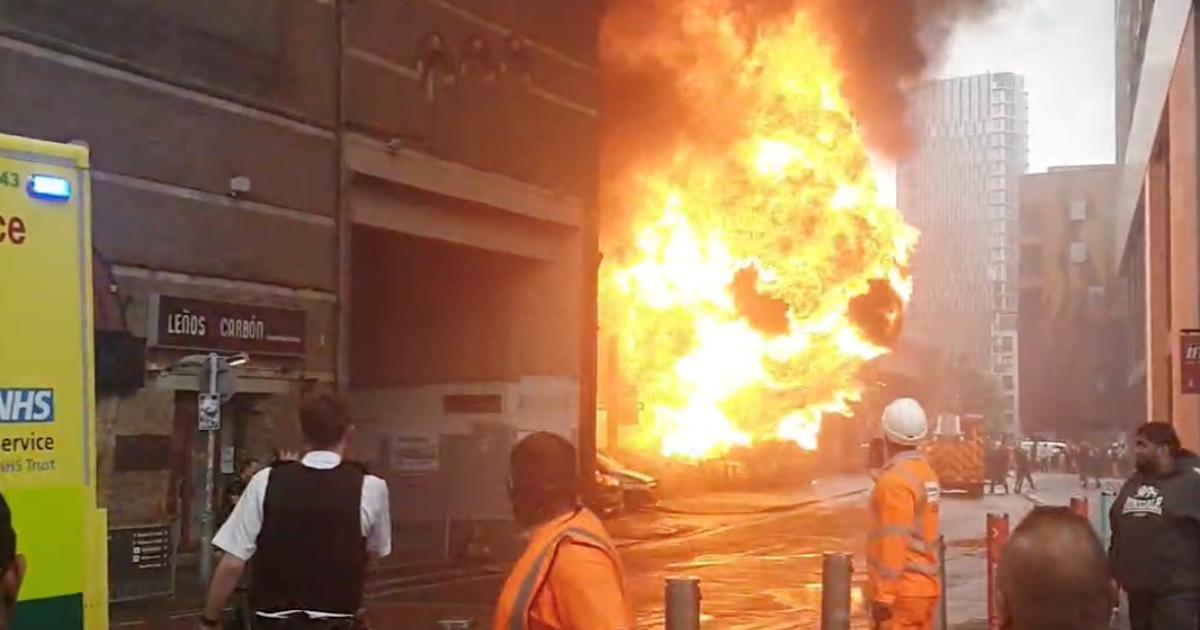 Gran incendio se desata en el centro de Londres; descartan terrorismo