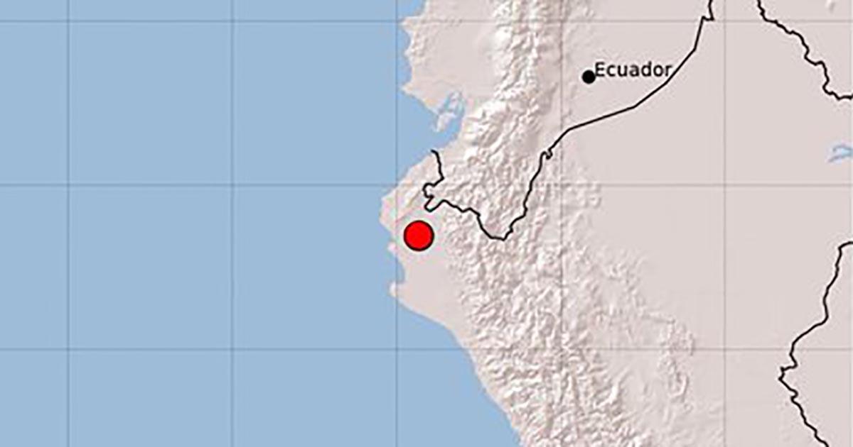 Se registra sismo de magnitud 6.2 en frontera de Perú y Ecuador