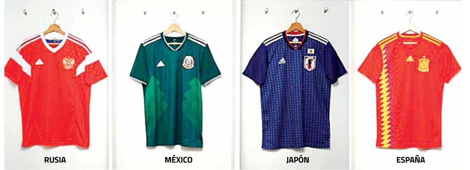 0eb7f4f7b8c68 La camiseta que utilizará la selección española en el Mundial de Rusia 2018  rememora el diseño empleado en el de Estados Unidos 94. La Roja usará una  prenda ...