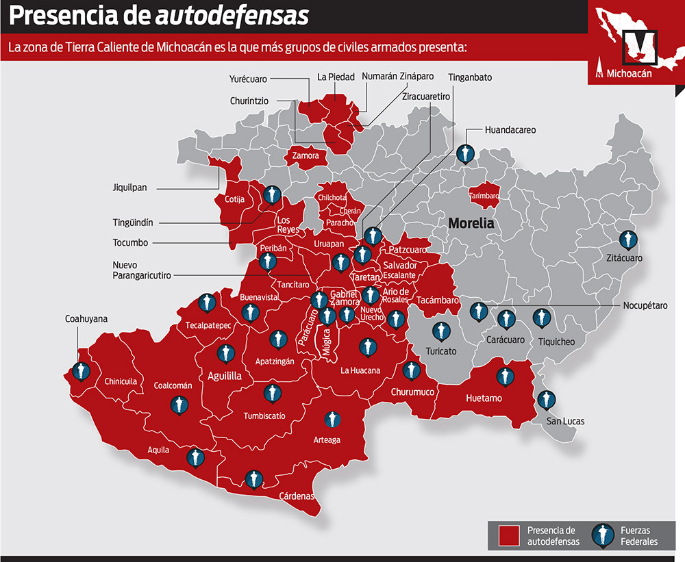 Autodefensas dan origen a otro cártel; nace en Michoacán La Tercera Hermandad o H3 Autodefensas_060514_grafica_01