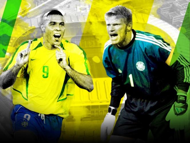 Ronaldo y Oliver Kahn, protagonistas de la final de 2002.