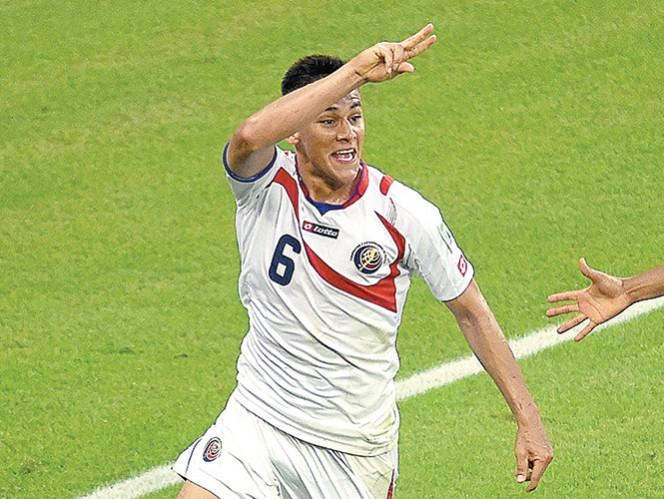Óscar Duarte anotó el segundo tanto en la victoria de Costa Rica. Foto: AFP