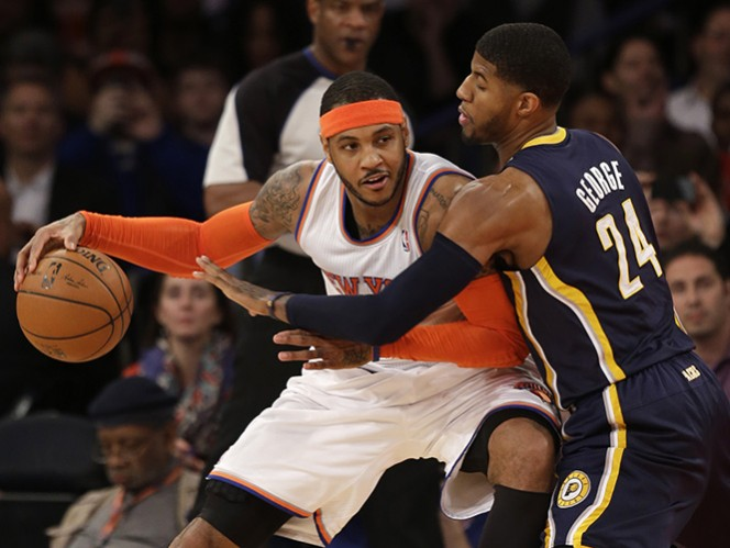 Carmelo Anthony anotó 34 puntos. (AP)