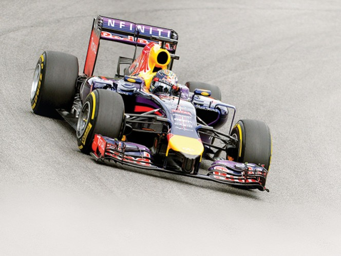 Sebastian Vettel, campeón de la F1, marcha esta temporada en la quinta posición. Foto: AP