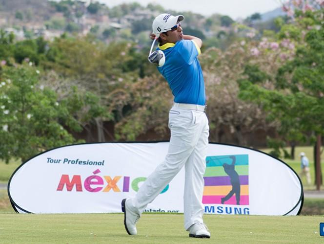 Juan Pablo Solís tiene de manera provisional el liderato del Tour México presentado por Samsung. (Cortesía Gira Profesional de Golf Samsung)