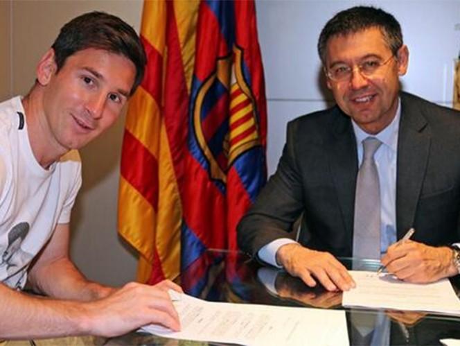 únicamente ha conseguido un título menor: la Supercopa de España.  El contrato de Messi con el Barcelona es hasta junio del 2018 y tiene una cláusula de recisión de 250 mde. (Foto cortesía FC Barcelona)
