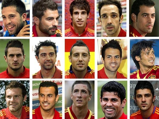 Los seleccionados por Vicente del Bosque (EFE)