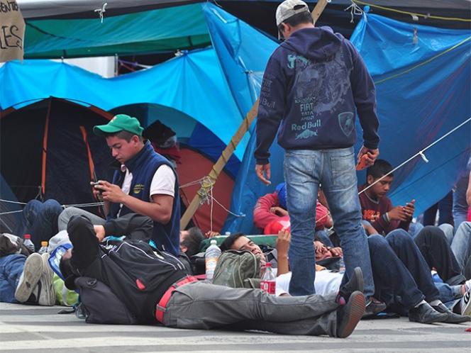 Protección Civil señala los riesgos del plantón de la CNTE