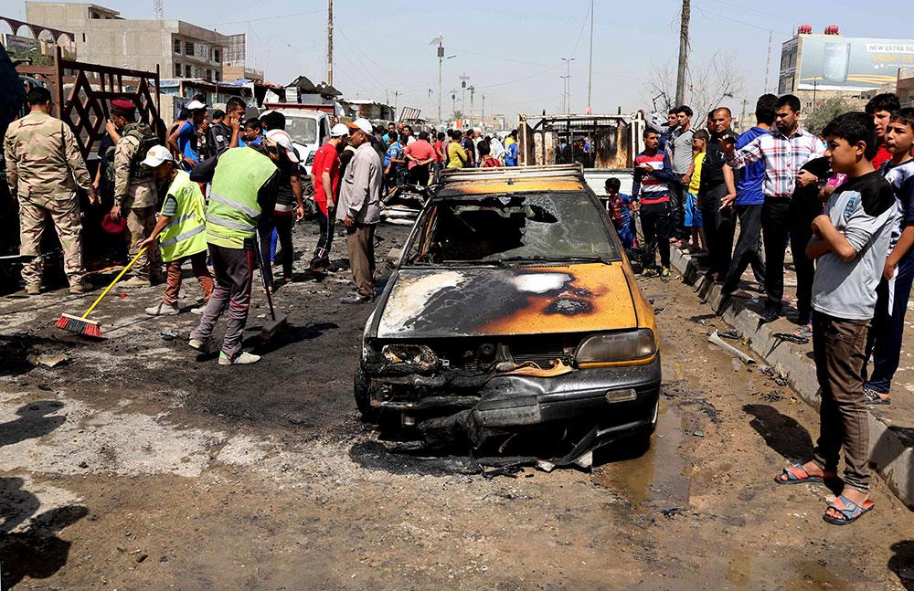 En el ataque más mortífero fallecieron nueve personas, entre ellas un periodista, en la localidad de Faluya.