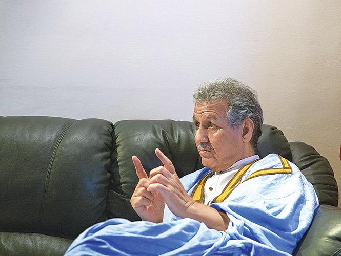 Ahmed Mulay Ali, en entrevista.