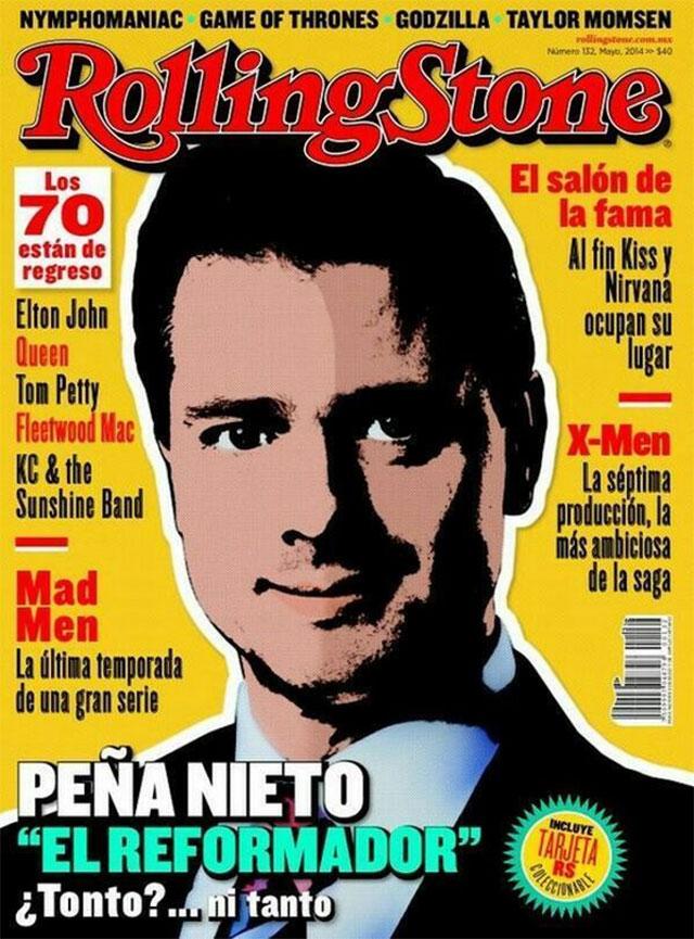 """En la edición de mayo, la revista colocó al Presidente de la República en su portada con el encabezado """"Peña Nieto, 'El reformador', ¿Tonto?... ni tanto""""."""