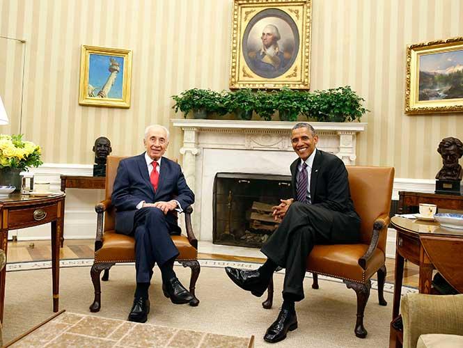 Presidente israelí visita por última vez la Casa Blanca